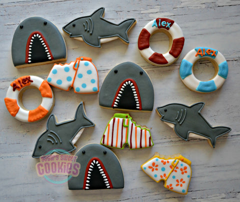 Shark Attack! (24 cookies)
