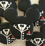 Wedding Mickey and Minnie (12 cookies)