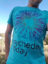 Psychedelics Today TShirt - Ladies Cut Turquoise