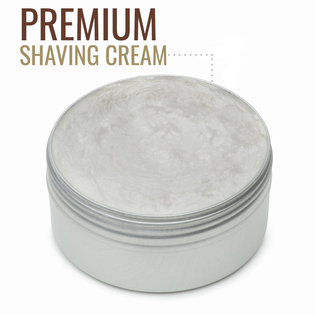 <strong>Sandalwood Shaving Cream</strong> <p>With Natural Sandalwood Essential Oil – 5 Ounce</p>