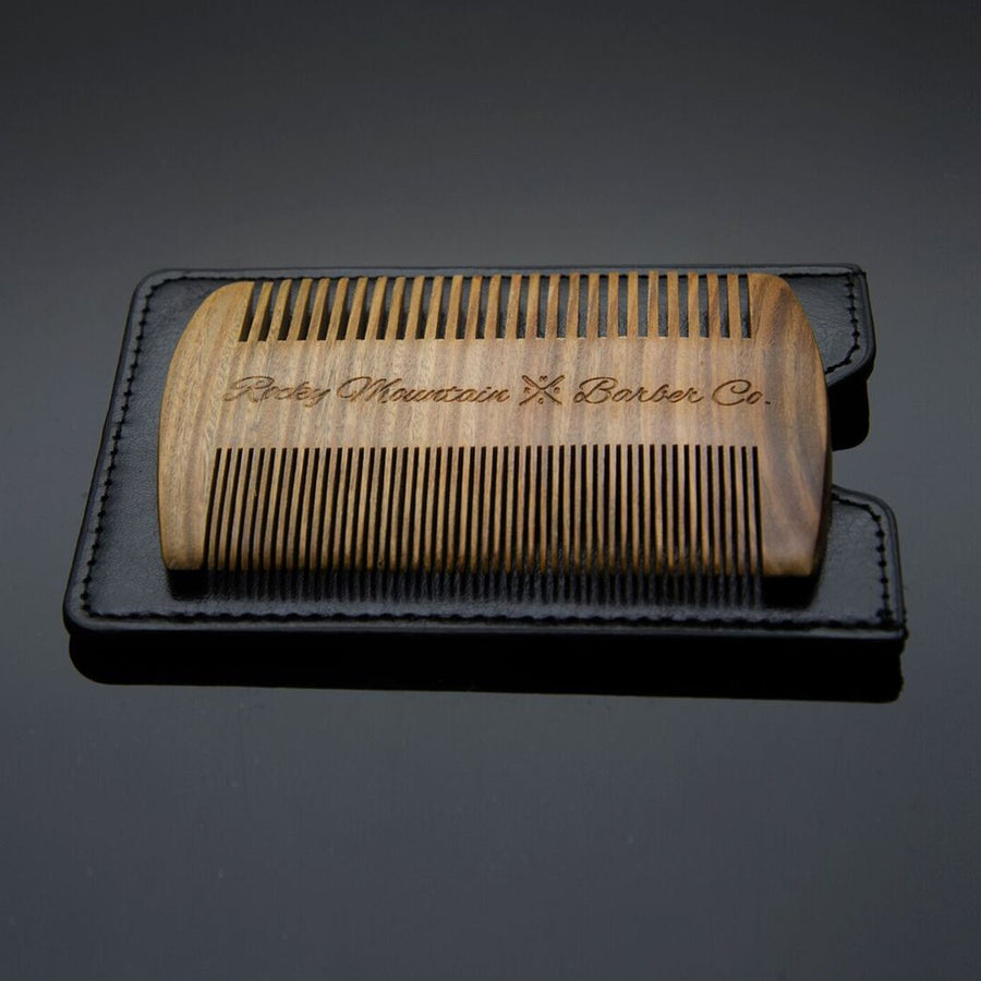 Straight Edge Sandalwood Beard Comb