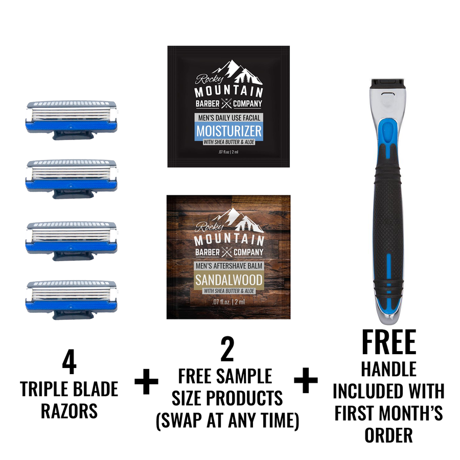 Rocky Mountain Barber Razor Blade Subscription