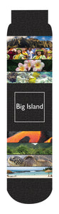 Big Island Crew Socks, Black