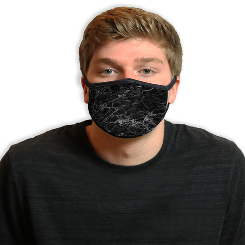 Black Marble Cool Shield Face Mask