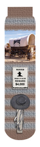 Covered Wagon Crew Socks, Grey Brown