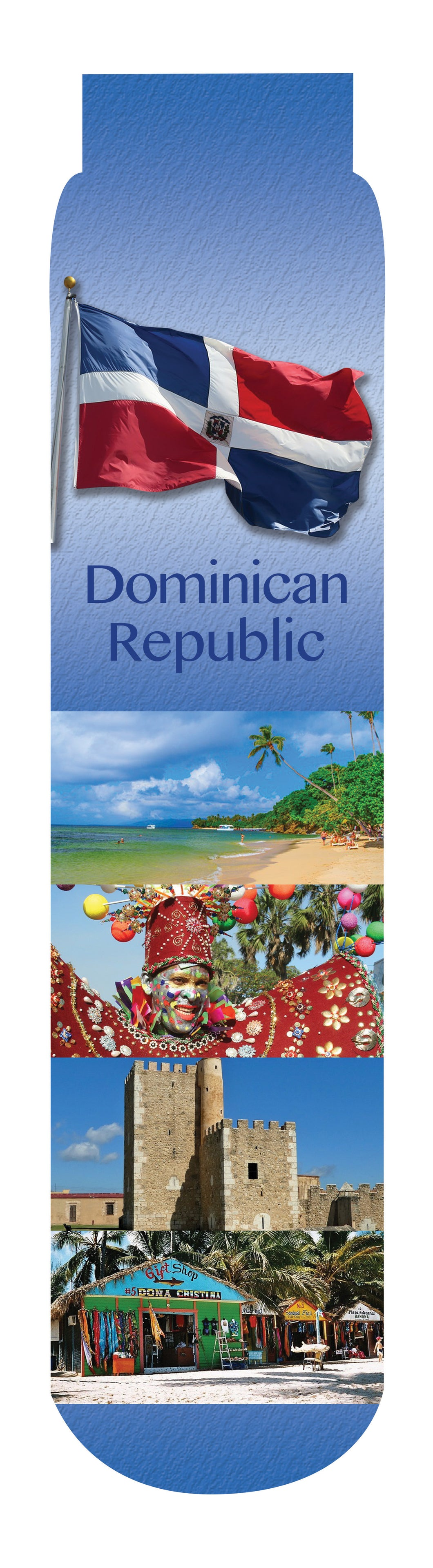 Dominican Republic Crew Socks, Blue
