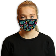 Floral Fantasy Dark Cool Shield Face Mask