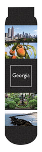 Georgia Crew Socks, Black