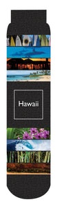 Hawaii State Crew Socks, Black