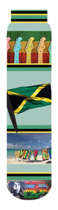 Jamaica Crew Socks, Green Yellow Red