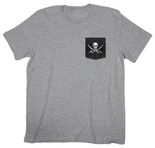 Island Dreaming: Jolly Roger Pirate Pocket T-shirt