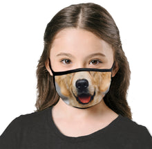 Kids Dog Smile Cool Shield Face Mask