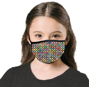 Kids Floral Bubble Cool Shield Face Mask