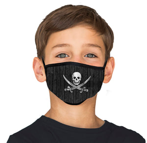 Kids Jolly Roger Cool Shield Face Mask