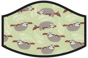 Kids Sloth Time Cool Shield Face Mask