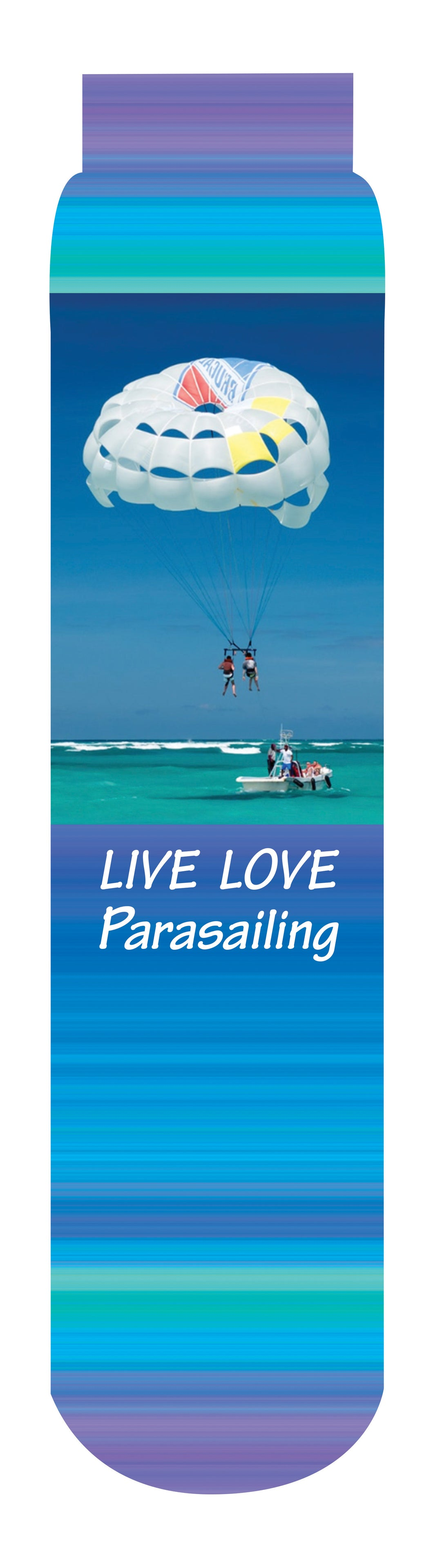 Live Love Parasailing Crew Socks, Blue Purple