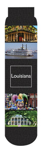 Louisiana Crew Socks, Black