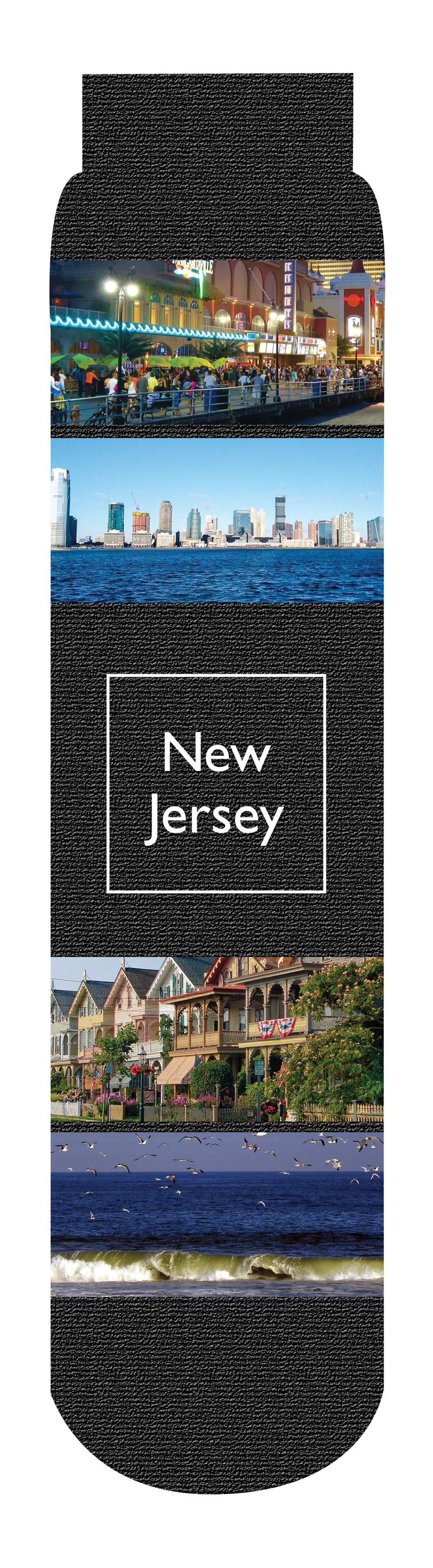 New Jersey State Crew Socks, Black