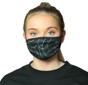 Ornamental Scroll Cool Shield Face Mask