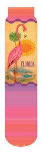Retro Florida Crew Socks, Pink Orange