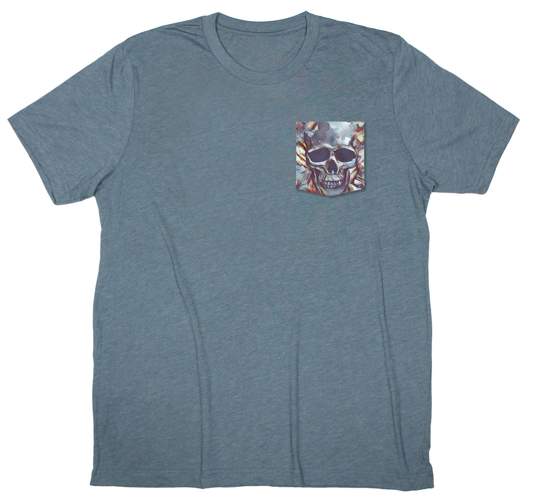 Coastal Live: Rock Skull Pocket T-shirt