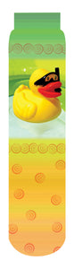Scuba Duck Crew Socks, Yellow Green