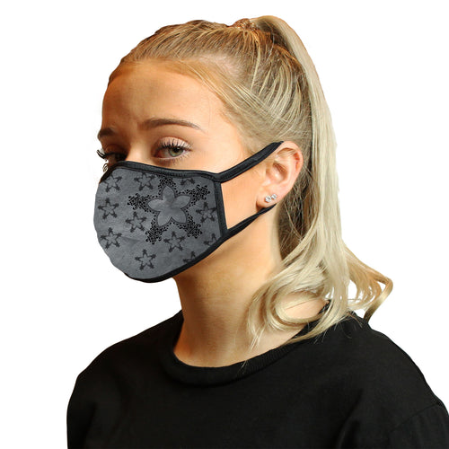 Shabby Chic Stars Cool Shield Face Mask