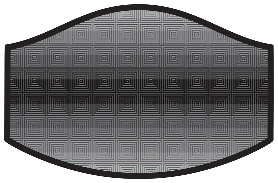 TV Test Pattern Cool Shield Face Mask