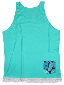 Teal Foliage Pocket Beach Cover-up