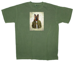 Lakes and Forests: Thor: German Shepard Hiking Dog Patch T-shirt