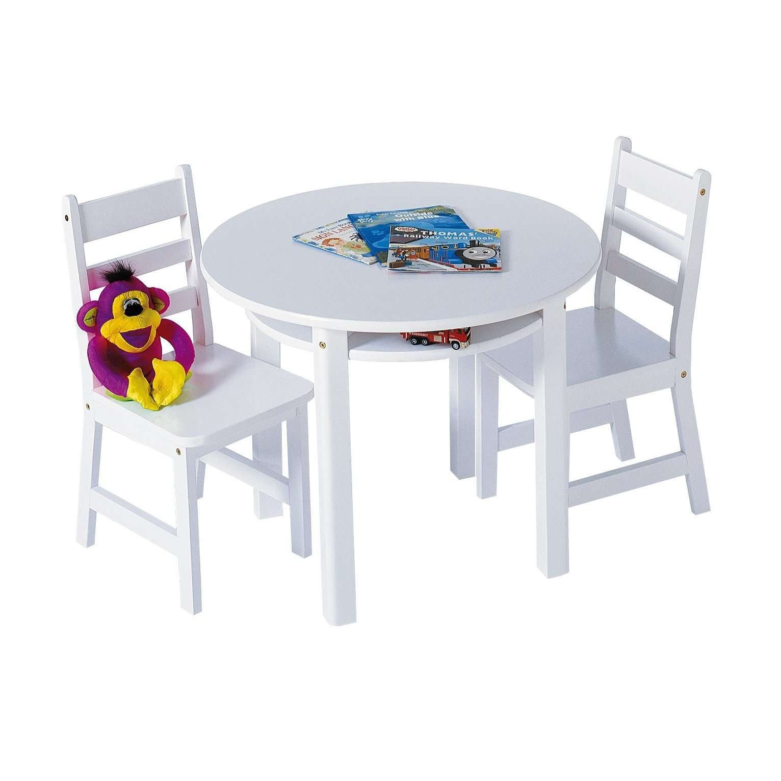 3 Piece Round Table Set in 5 different Finishes by Lipper