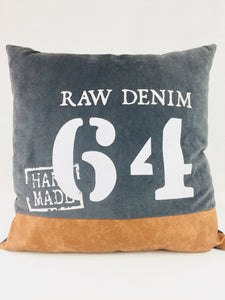 "Coussin ""Raw Denim"""