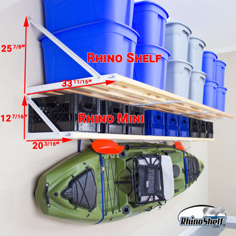 Rhino Shelf | Compare the Rhino Shelf and the RhinoMini to select the perfect garage storage fo your home
