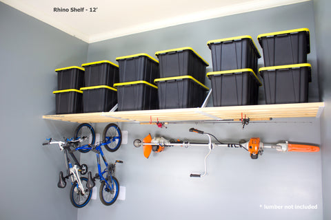 The RhinoMini is affordable and strong garage storage shelving.