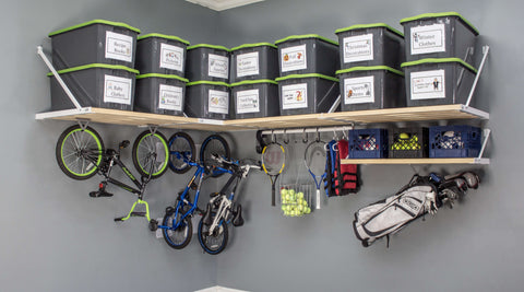 Rhino Shelf offers unmatched garage storage volume, strength and cubic feet of space.