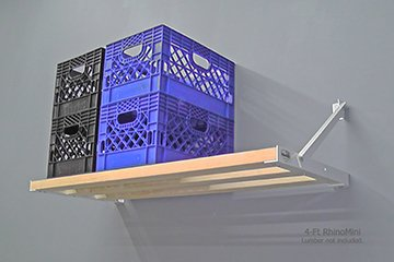 Rhino Shelf | The RhinoMini is designed for milk crates to maximize your storage
