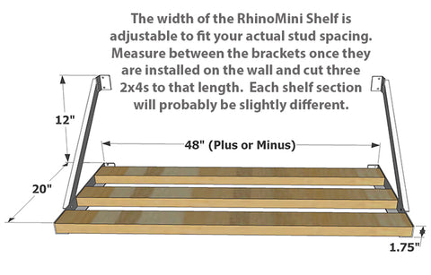 Rhino Shelf | The RhinoMini is the garage storage solution for smaller items.