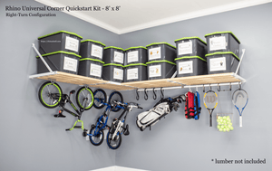 Garage Storage ideas from Rhino Shelf | Made in America