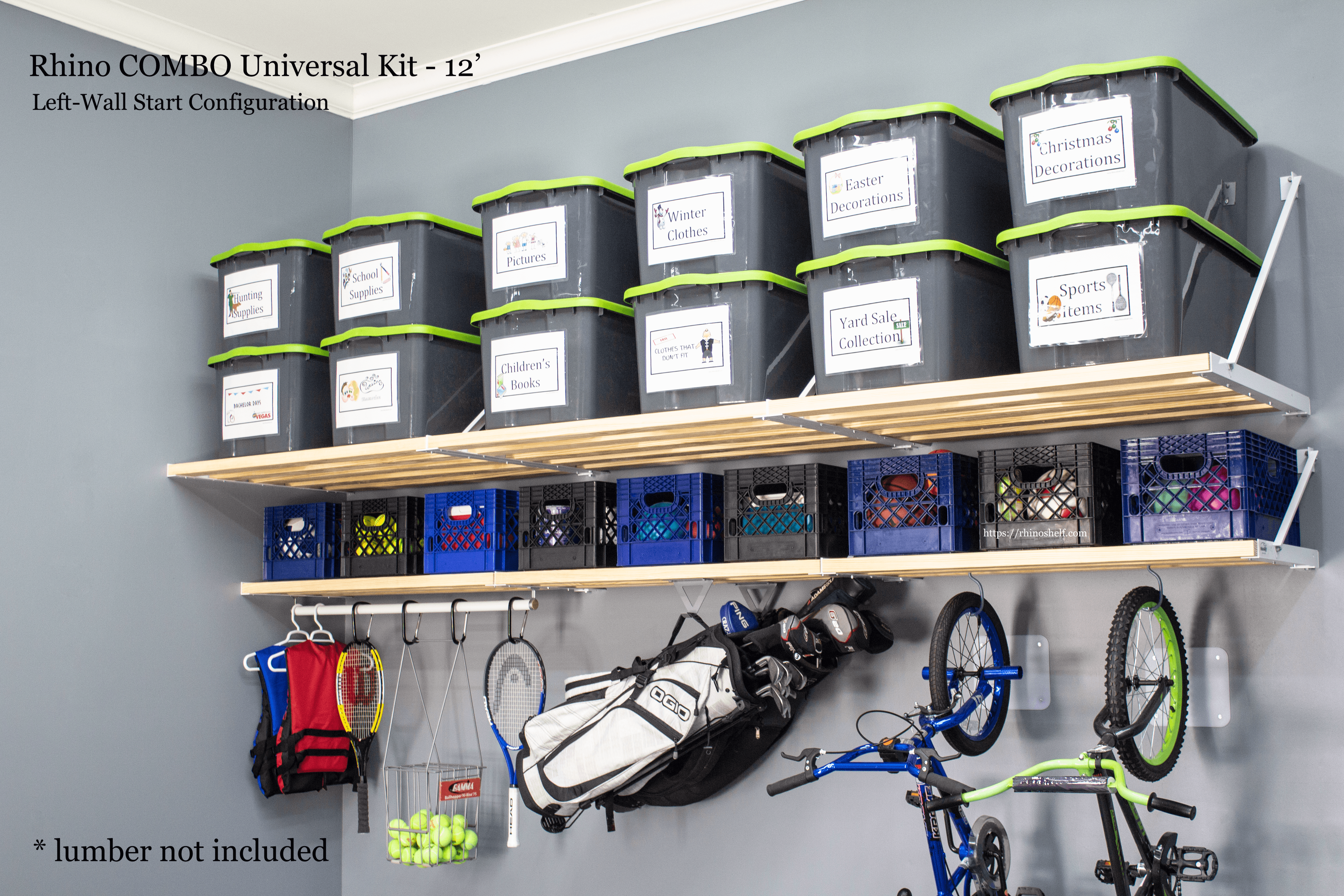 Garage Storage for short-term and long-term items - Rhino Shelf