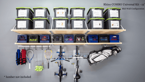Garage Ideas for storage starts with Rhino Shelf | Made in America