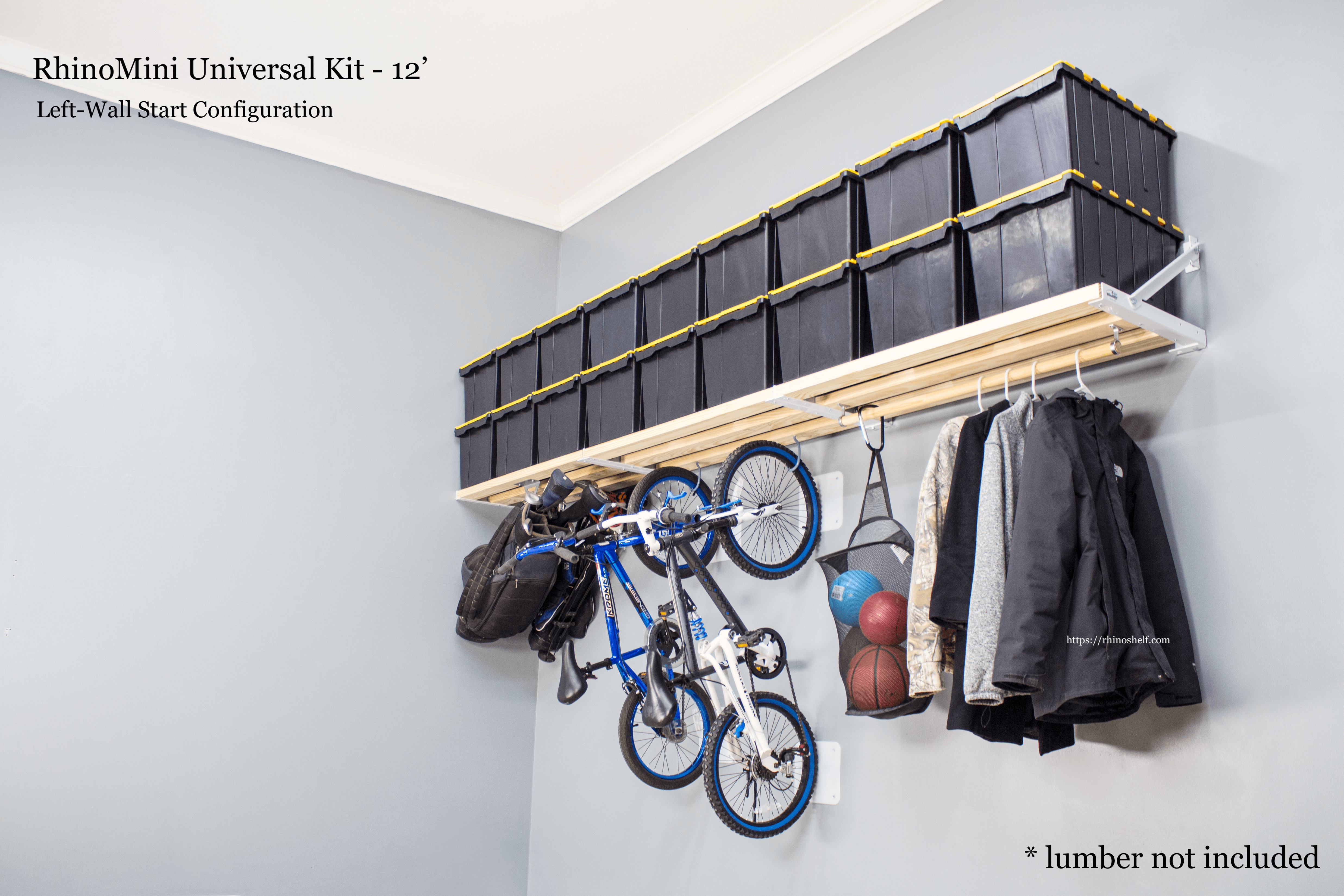 Garage storage shelves that are made in America | Rhino Shelf