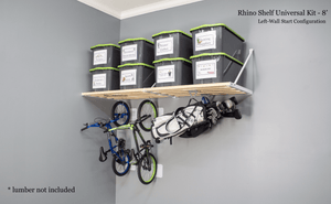 Garage Storage Ideas from Rhino Shelf | Use the space in your garage