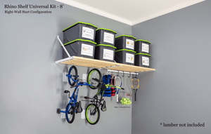 Our garage storage shelves are durable and strong | Rhino Shelf is Made in America