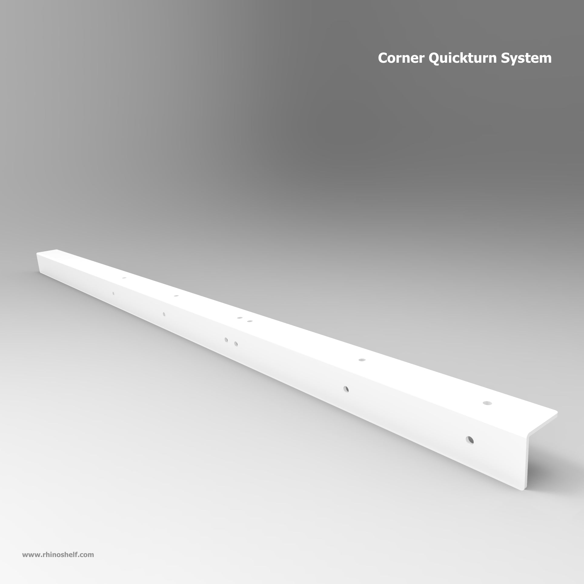 Rhino Corner Quickturn System | Corners are no problem for Rhino Shelf Garage Storage solutions