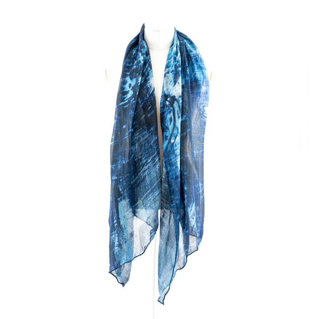 Blue Sphere Silk Modal