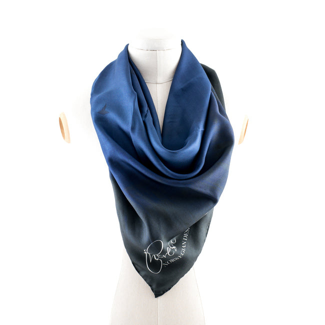 Fly High Blue Square Silk