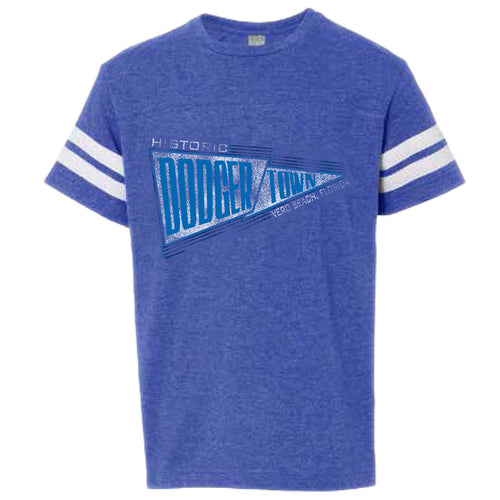 Historic Dodgertown Youth Striped Sleeve Tee