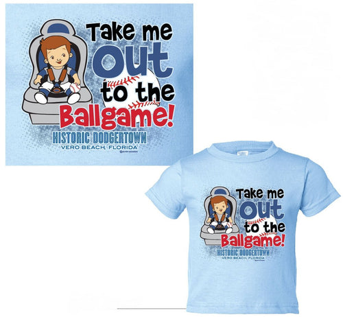 Youth Take Me Out To The Ball Game Tee