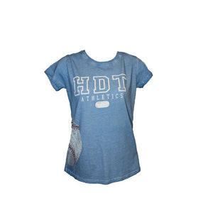 Historic Dodgertown Ladies Wrap-Around Baseball Tee