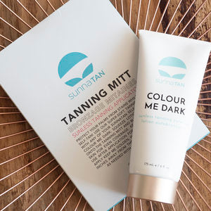SUNNATAN TANNING MITT & COLOUR ME DARK DUO